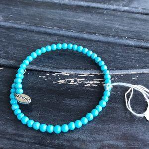 Turquoise beaded stack bracelet